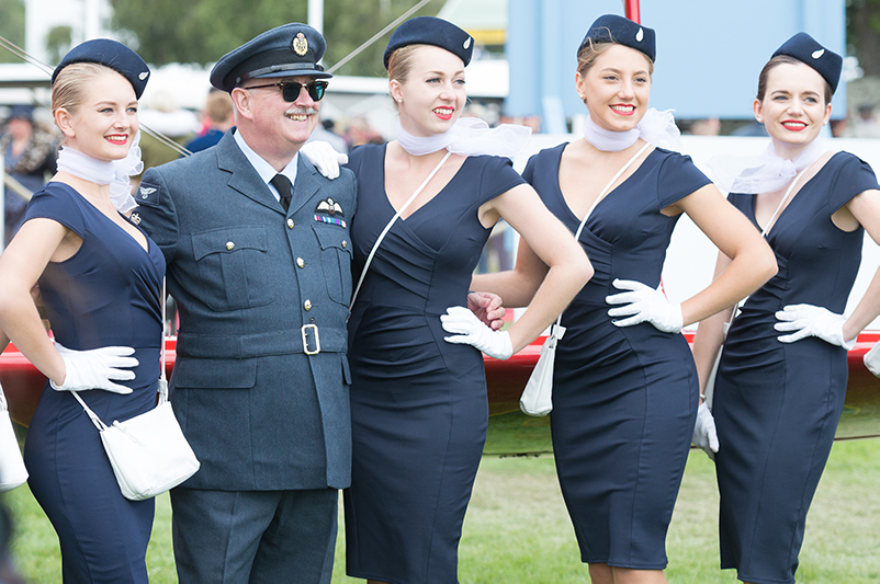 Period dress encouraged at the Goodwood Revival